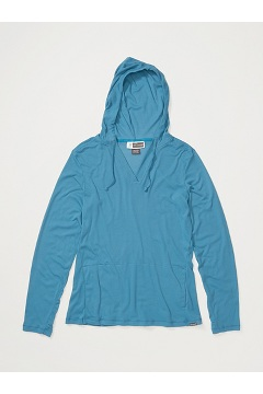 Women's BugsAway Lumen Hoody, Atlantic, medium