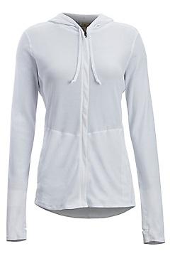 Women's BugsAway Lumen Full-Zip Hoody, White, medium