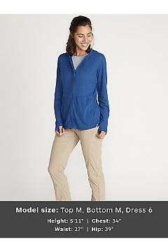 Women's BugsAway Lumen Full-Zip Hoody, Admiral Blue, medium