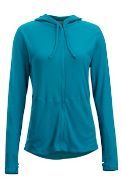 Women's BugsAway Lumen Full-Zip Hoody, Algiers Blue, medium