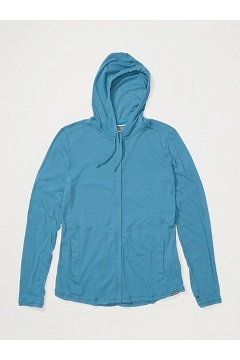 Women's BugsAway Lumen Full-Zip Hoody, Atlantic, medium