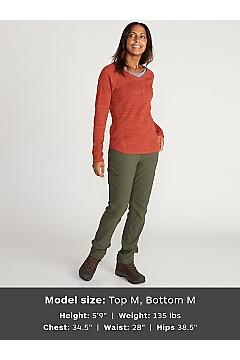 Women's BugsAway Novais Long-Sleeve Henley, Carbon Heather, medium