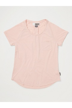 Women's BugsAway Caddis Short-Sleeve Shirt, Ballet Heather, medium