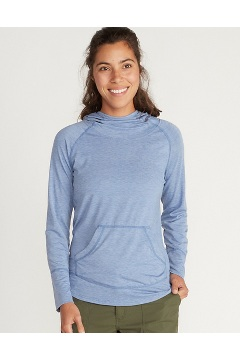 Women's BugsAway Areia Hoody, Admiral Blue Heather, medium