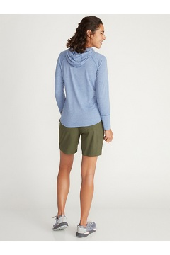 Women's BugsAway Areia Hoody, Carbon Heather, medium