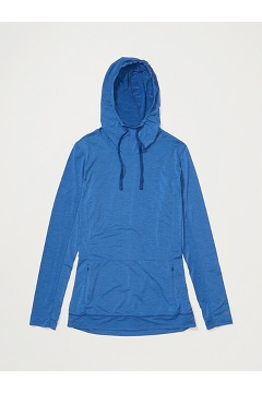 Women's BugsAway Sol Cool Kaliani Hoody, Admiral Blue Heather, medium