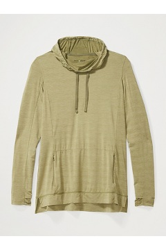 Women's BugsAway Sol Cool Kaliani Hoody, Oil Green Heather, medium