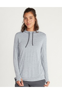Women's BugsAway Sol Cool Kaliani Hoody, Steel Onyx Heather, medium