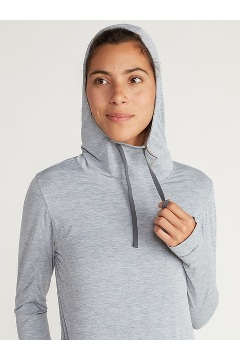 Women's BugsAway Sol Cool Kaliani Hoody, Tea Rose Heather, medium