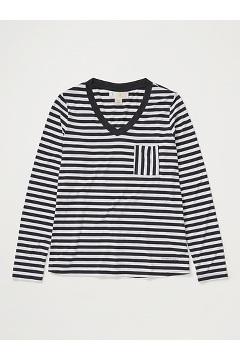 Women's BugsAway Wanderlux Iringa UPF 50 Long-Sleeve Shirt, Black/White, medium