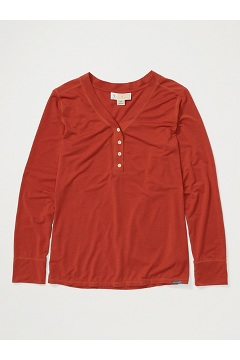 Women's BugsAway Wanderlux Arusha UPF 50 Long-Sleeve Shirt, Rust, medium