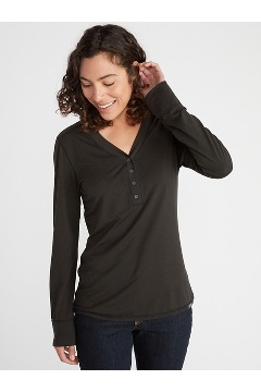 Women's BugsAway Wanderlux Arusha UPF 50 Long-Sleeve Shirt, Black, medium