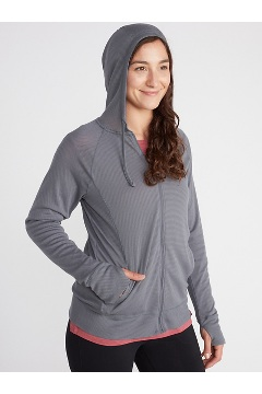 Women's BugsAway Lumen Full-Zip Hoody, White, medium
