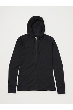 Women's BugsAway Lumen Full-Zip Hoody, Black, medium