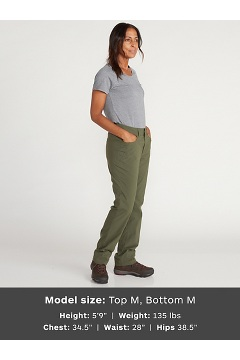 Women's BugsAway Santelmo Pants - Petite, Carbon, medium