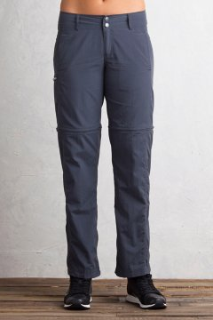 BugsAway Sol Cool Ampario Convertible Pants - Petite, Carbon, medium