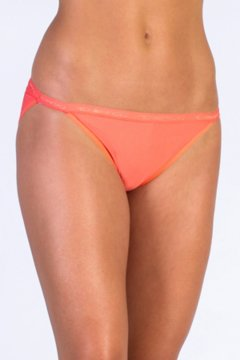 Give-N-Go String Bikini, Hot Coral, medium