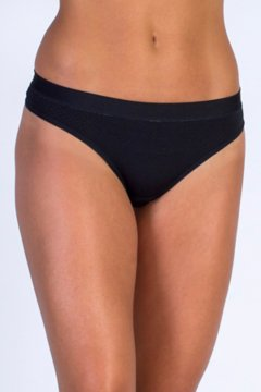 Give-N-Go Sport Mesh Thong, Black, medium