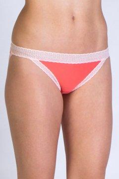 Give-N-Go Lacy Low Rise Bikini Brief, Hot Coral, medium