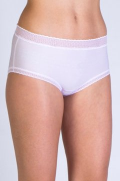 Give-N-Go Lacy Full Cut Brief, Lt Grape, medium