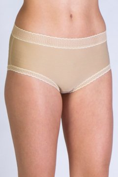 Give-N-Go Lacy Full Cut Brief, Nude, medium