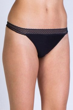 Give-N-Go Lacy Thong, Black, medium