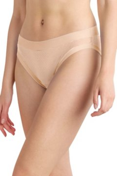 Give-N-Go Sport Mesh Hi Cut Brief, Buff, medium