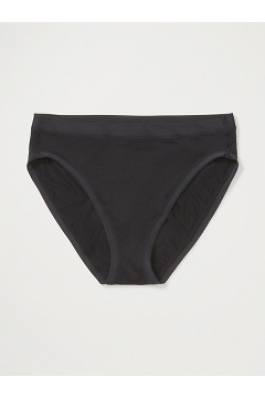 Women's Give-N-Go Sport Mesh Hi Cut Brief, Black, medium
