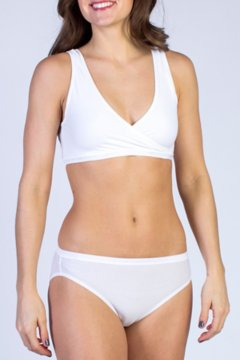 Give-N-Go CrossOver Bra, White, medium