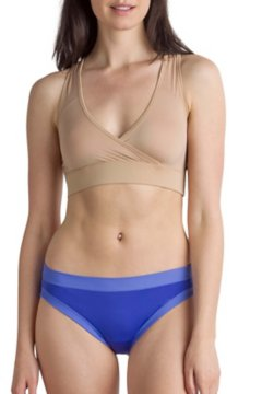 Give-N-Go Sport Mesh Bralette, Buff, medium