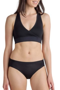 Give-N-Go Sport Mesh Bralette, Black, medium