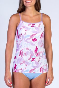 Give-N-Go Printed Shelf Bra Camisole, Mulberry Floral, medium