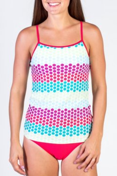 Give-N-Go Printed Shelf Bra Camisole, Dots/Multi, medium