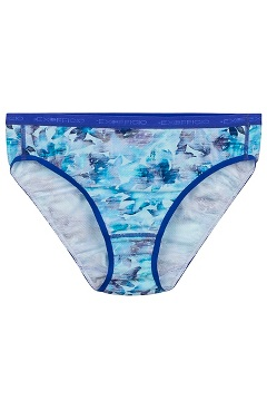Women's Give-N-Go Printed Bikini Brief, Watercolor Floral, medium