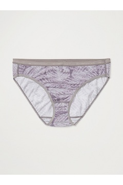 Women's Give-N-Go Printed Bikini Brief, Lilac Grey Fern, medium