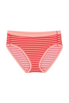 Women's Give-N-Go Sport Mesh Printed Bikini Brief, Lollipop Double Stripe, medium