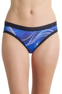 Give-N-Go Sport Mesh Printed Bikini Brief, Black/Wave, medium