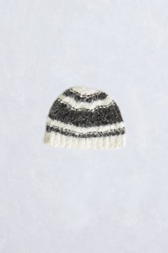 Lorelei Eyelash Beanie, Black/White, medium
