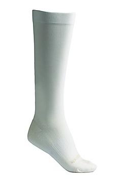 Travel Compression Sock, Ivory, medium