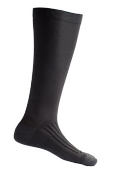 Travel Compression Sock, Dk Charcoal, medium