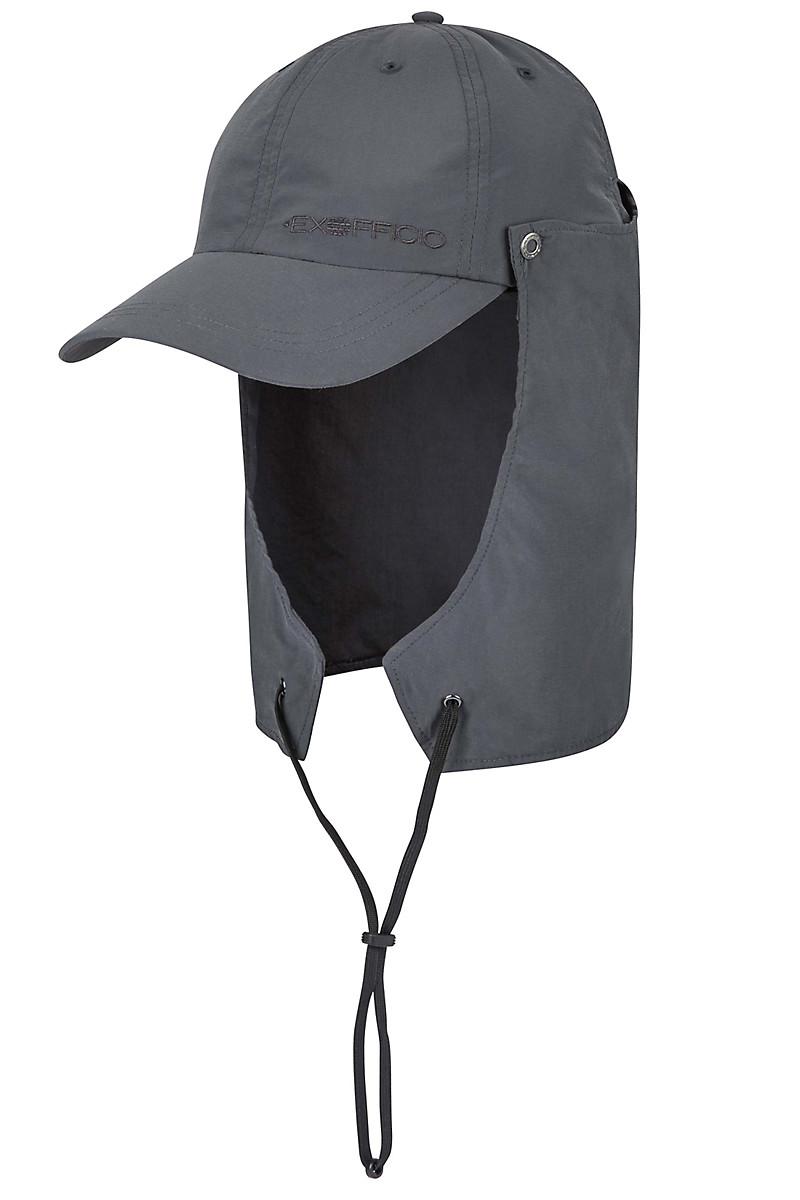 Bugsaway Sol Cool Cape Hat Visor 311 Clear Carbon Large