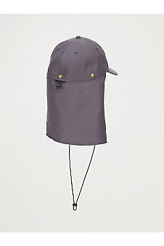 BugsAway Baja Cape Hat, Steel Onyx, medium