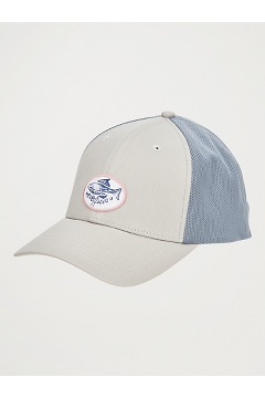 BugsAway ExOfficio Trucker Hat, Platinum/Storm, medium