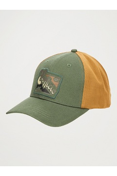 BugsAway ExOfficio Trucker Hat, Alpine Green/Scotch, medium
