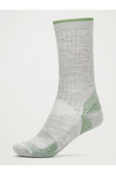 Men's BugsAway Solstice Canyon Crew Socks, Sleet Heather/Alpine Green, medium