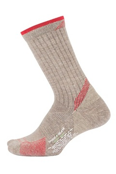 Women's BugsAway Solstice Canyon Crew Socks, Oatmeal Heather/Lollipop, medium