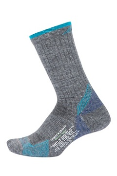 BugsAway Solstice Canyon Crew Socks, Grey Heather/Algiers Blue, medium