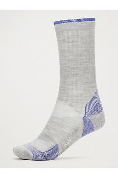Women's BugsAway Solstice Canyon Crew Socks, Sleet Heather/Admiral Blue, medium