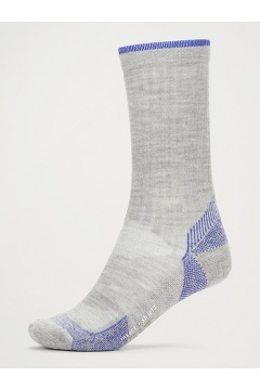 Women's BugsAway Solstice Canyon Crew Socks, Sleet Heather/Admiral Blue, medium