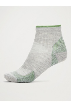 Men's BugsAway Solstice Canyon Quarter Socks, Sleet Heather/Alpine Green, medium